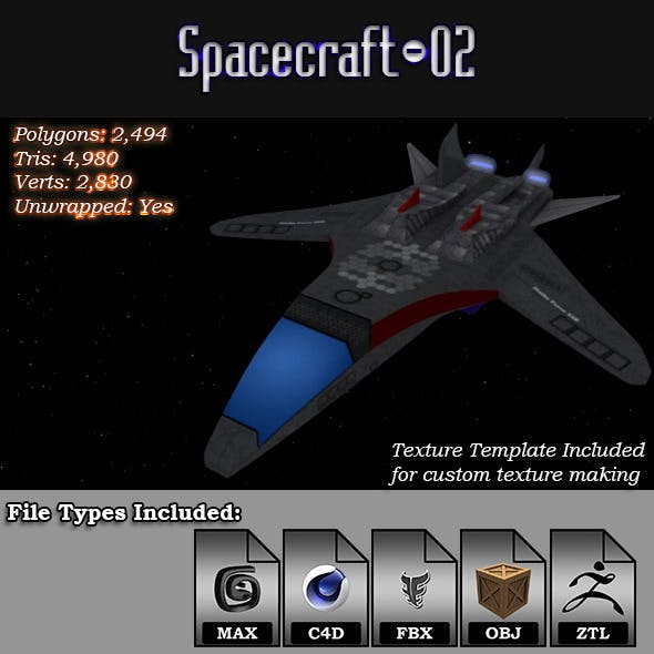 Spacecraft - 02 3D Model