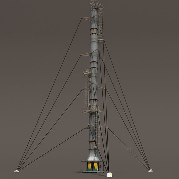 Chimney Factory Low Poly 3d Model