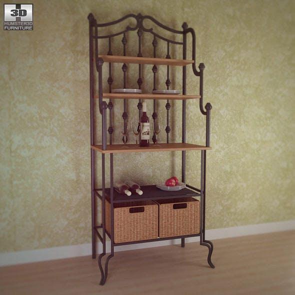Saint Pierre Bakers Rack - Southern Enterprises - 3DOcean Item for Sale