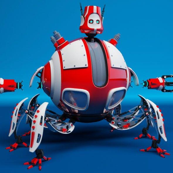 Robot D09E - 3DOcean Item for Sale