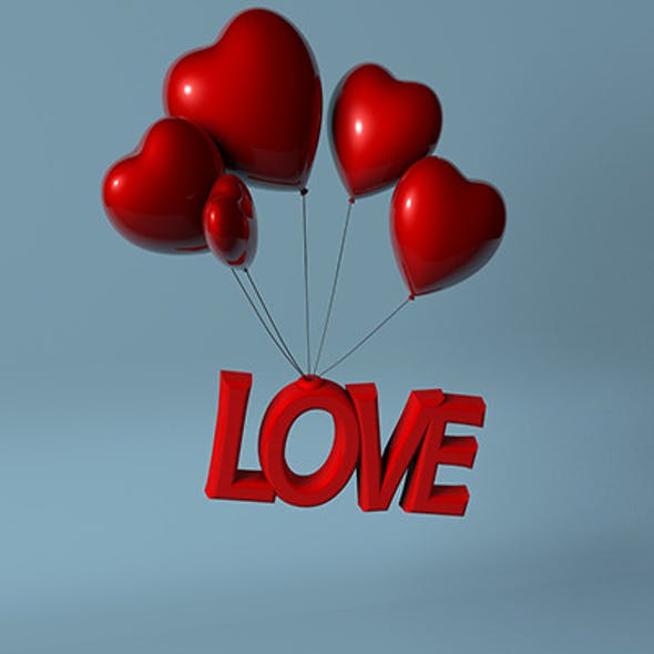3D Love Heart Balloon