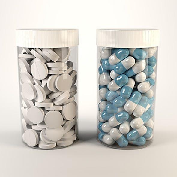Medicine bottles with customisable labels