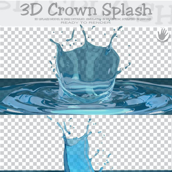 HD Crown Water Paint Liquid Splash