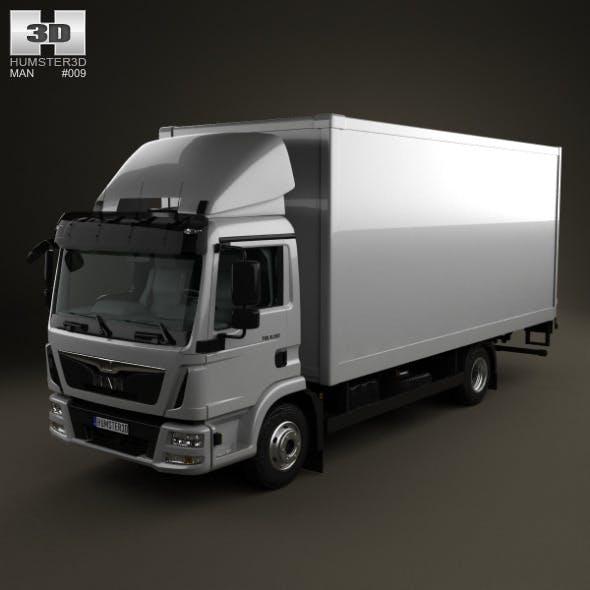MAN TGL Box Truck 2012 - 3DOcean Item for Sale