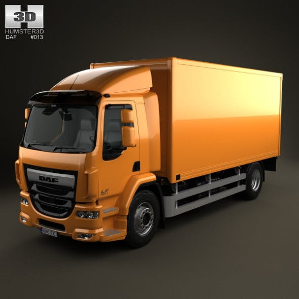 DAF LF Box Truck 2013 - 3DOcean Item for Sale