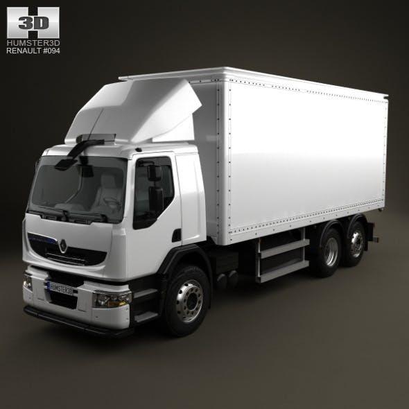 Renault Premium Distribution Hybrys Box Truck 2011 - 3DOcean Item for Sale