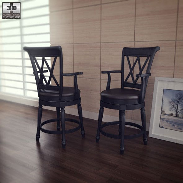 Traditional Swivel Bar Stool - Home Styles - 3DOcean Item for Sale