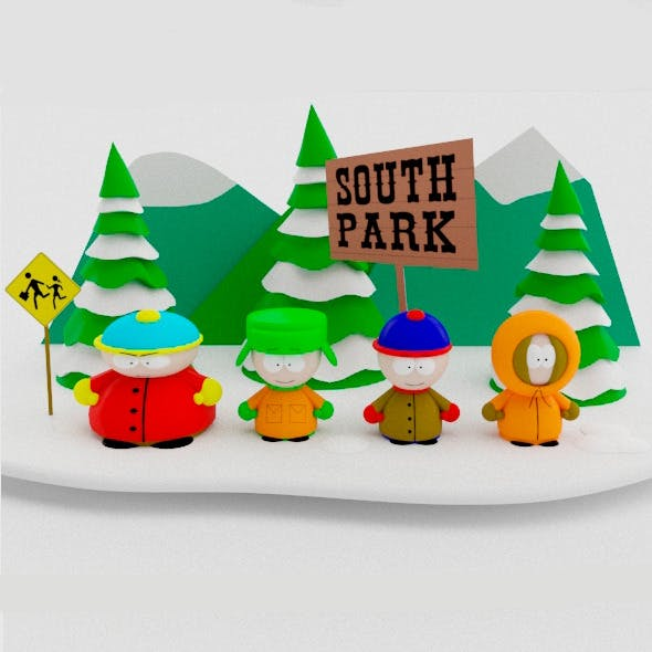 South Park Low Poly