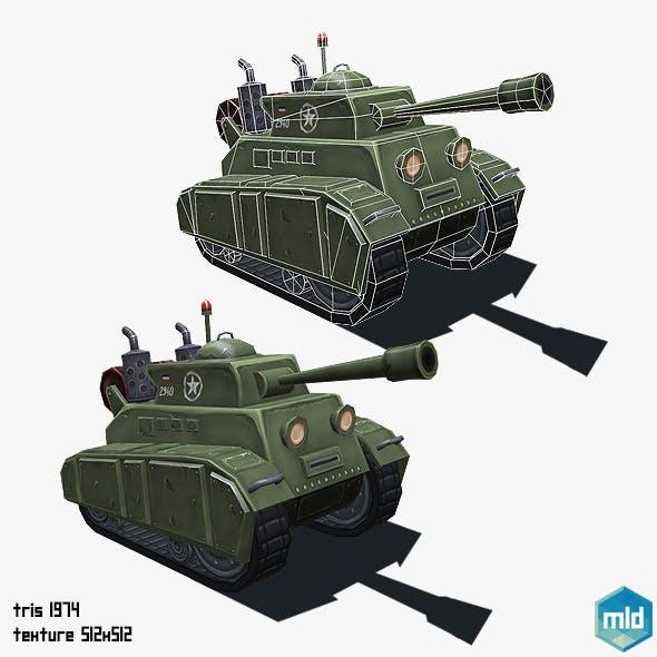 Low Poly Cartoon Tank