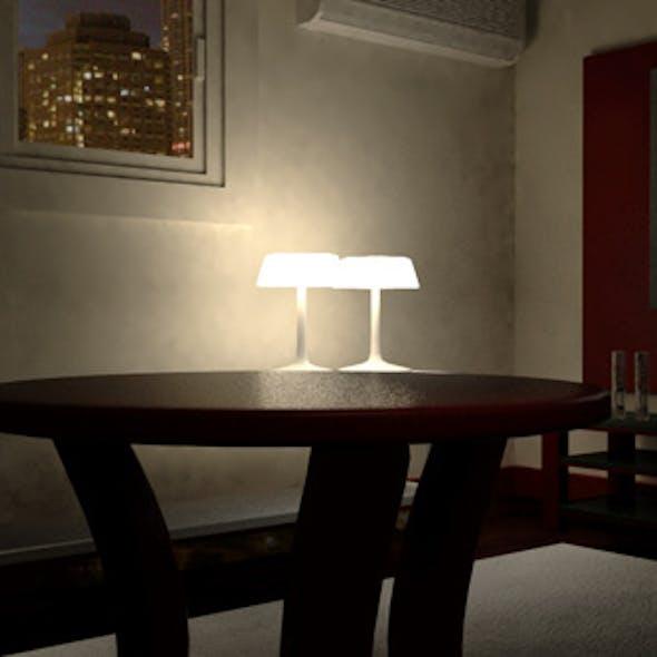 Living room  night scene
