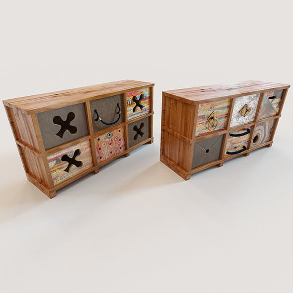 2 Ethnic chests of drawers - 3DOcean Item for Sale
