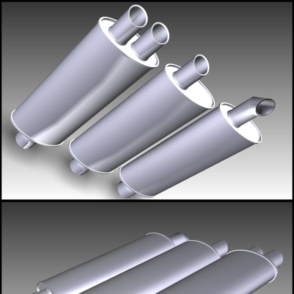 3 in 1 Exhaust pipe (Turbo+Sport+Standart)