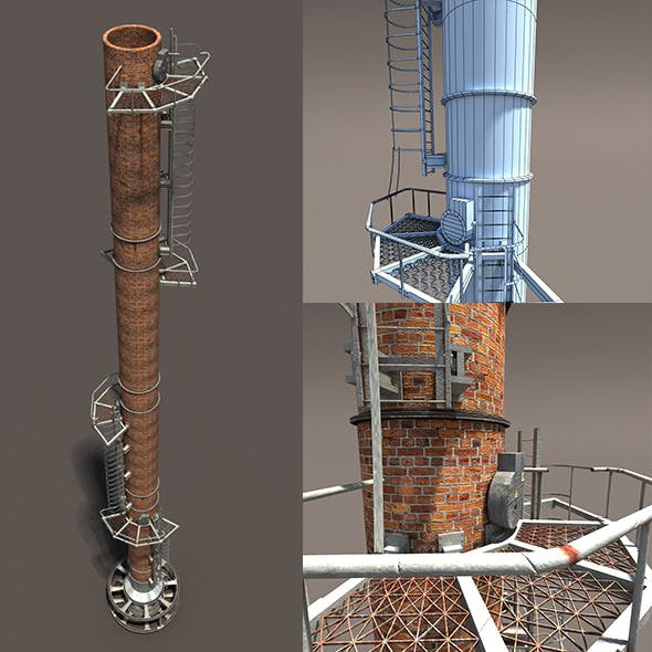 Chimney Low Poly 3d Model