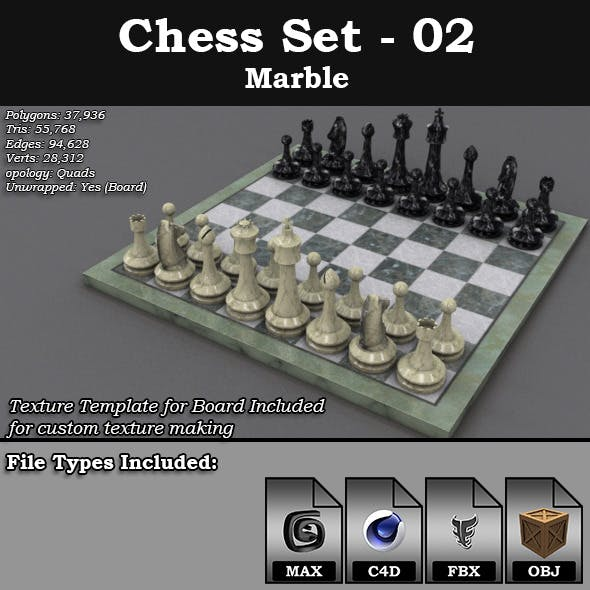 Chess Set - 02 - Marble
