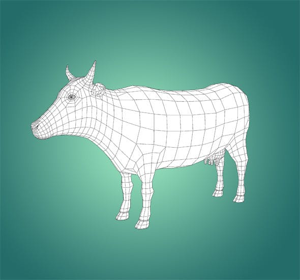 Base Mesh Cow - 3DOcean Item for Sale