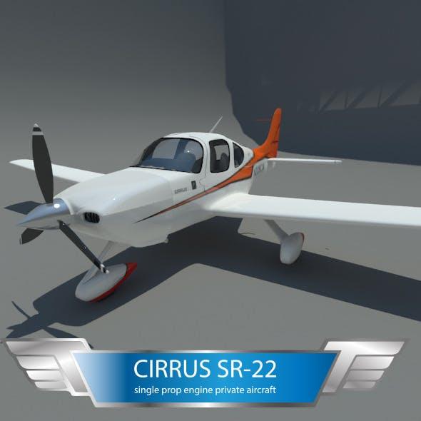 cirrus sr-22 private airplane - 3DOcean Item for Sale