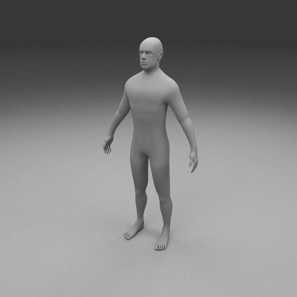 Human Male Clay Model