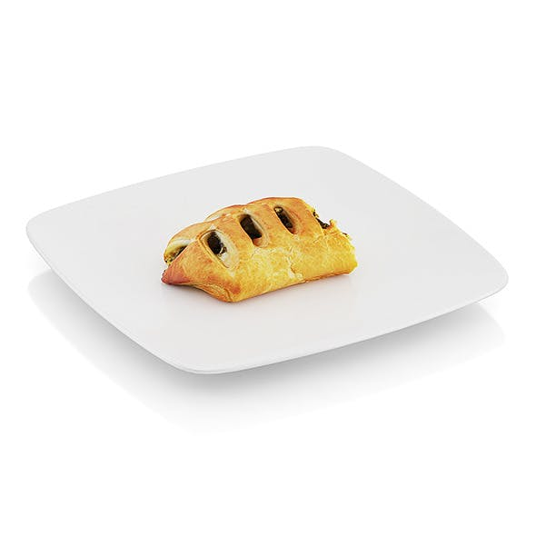 Bitten pastry with spinach - 3DOcean Item for Sale