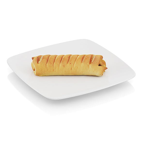 Roll with sausage - 3DOcean Item for Sale