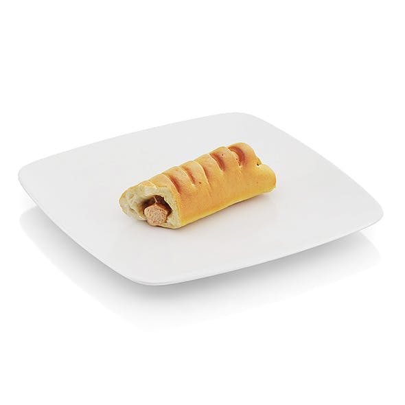 Bitten Roll with sausage - 3DOcean Item for Sale