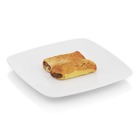 Pastry with meat - 3DOcean Item for Sale