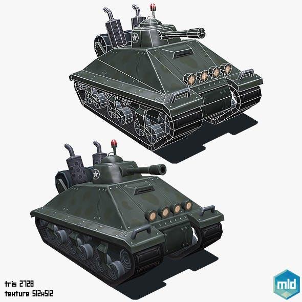 Low Poly Cartoon Big Tank