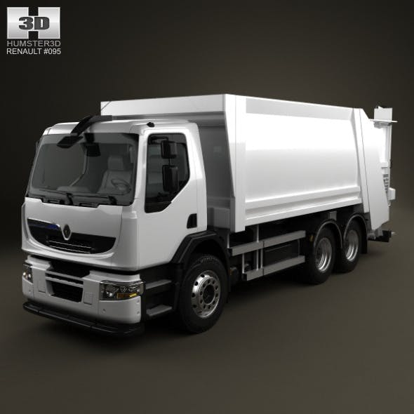 Renault Premium Distribution Hybrys Garbage Truck  - 3DOcean Item for Sale