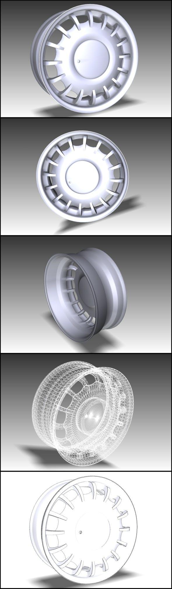 Wheel of premium car (Low Poly) - 3DOcean Item for Sale