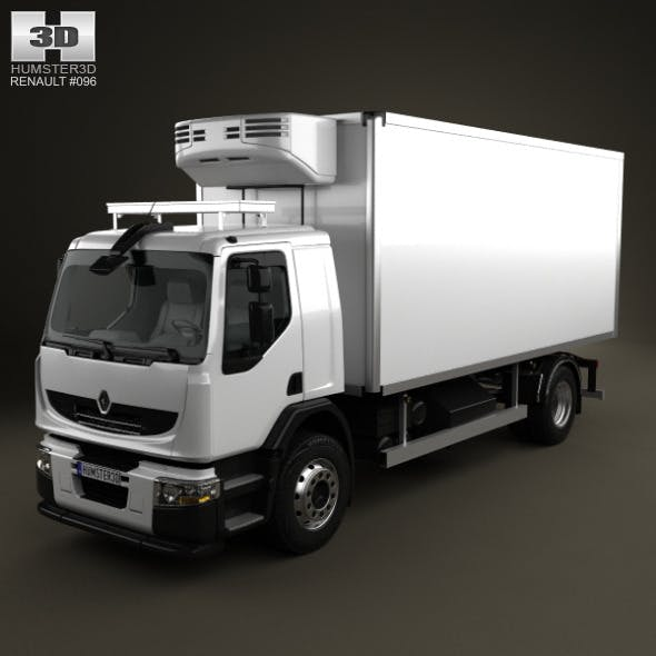 Renault Premium Distribution Refrigerator Truck 20 - 3DOcean Item for Sale