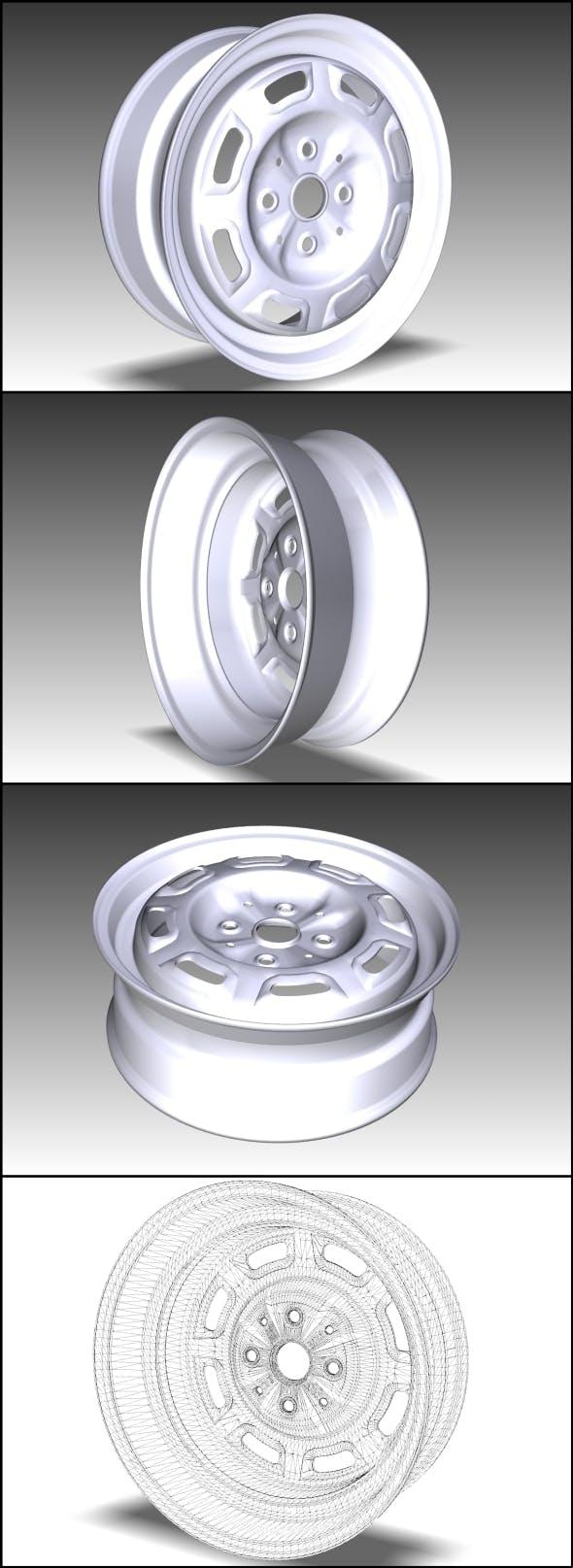 Wheel of standart car (Low Poly) - 3DOcean Item for Sale