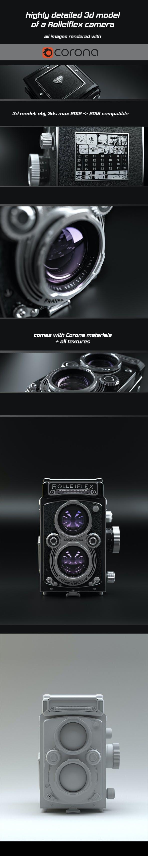 Rolleiflex cam 3D - 3DOcean Item for Sale