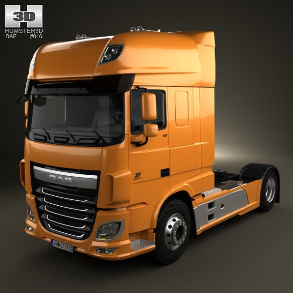 DAF XF Tractor Truck 2013 - 3DOcean Item for Sale