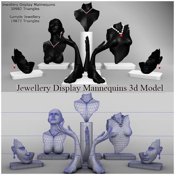 Jewellery Display Mannequins 3d Model - 3DOcean Item for Sale
