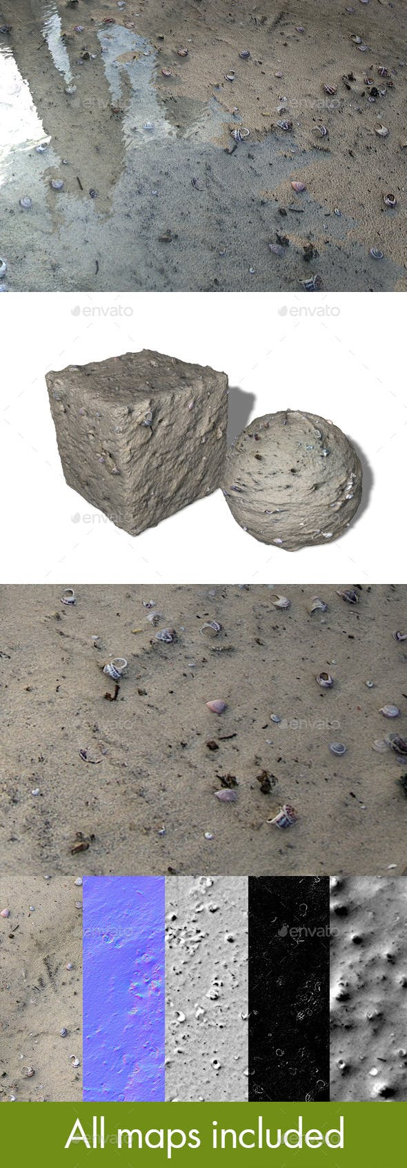 Seamless Beach Texture - 3DOcean Item for Sale