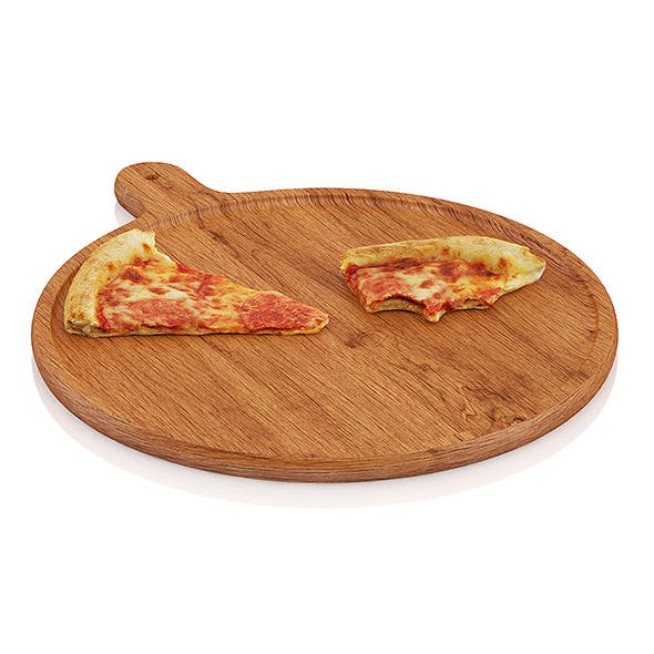 Pizza slices on wooden board - 3DOcean Item for Sale