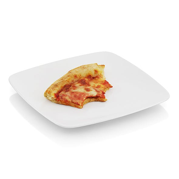 Bitten pizza slice