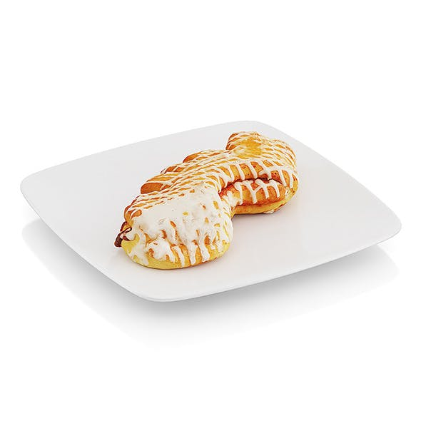 Baked roll with jam - 3DOcean Item for Sale