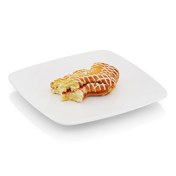 Bitten baked roll with jam - 3DOcean Item for Sale