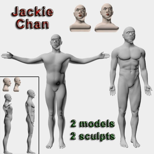 Jackie Chan - 3DOcean Item for Sale