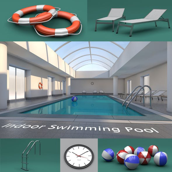Indoor Swimming Pool by 3dtreatment | 3DOcean