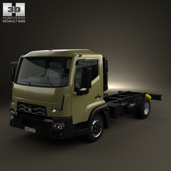 Renault D 7.5 Chassis Truck 2013 - 3DOcean Item for Sale