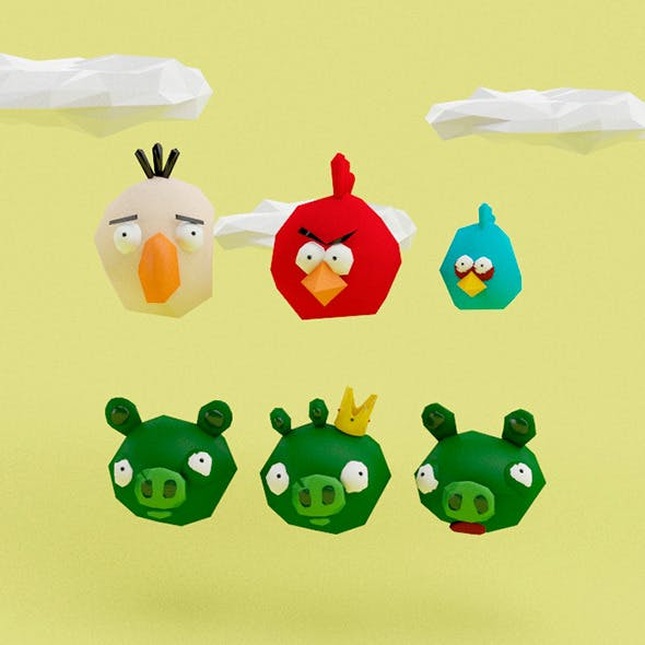 Angry Birds Low Poly - 3DOcean Item for Sale