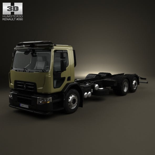 Renault D Wide Chassis Truck 2013 - 3DOcean Item for Sale