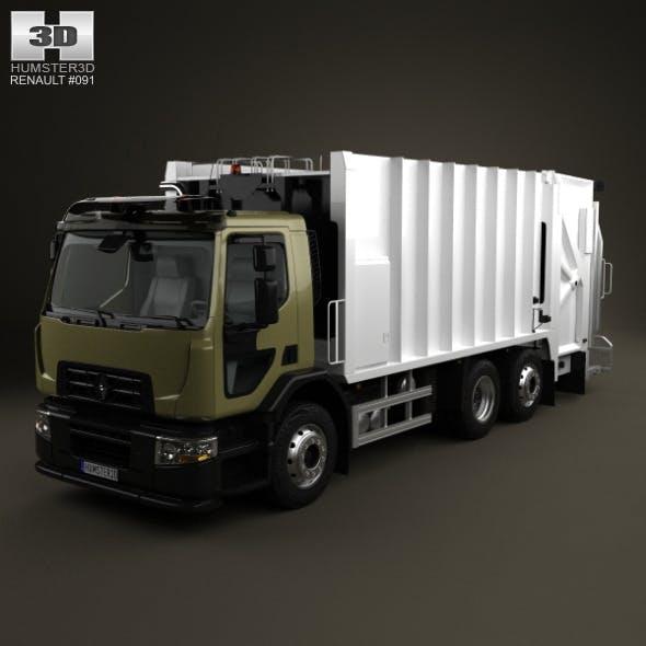 Renault D Wide Rolloffcon Garbage Truck 2013