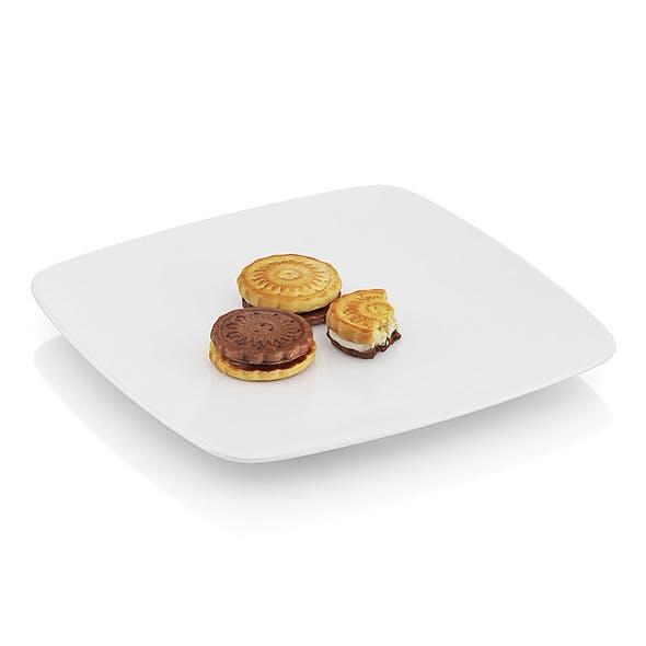 Bitten two-color cookies