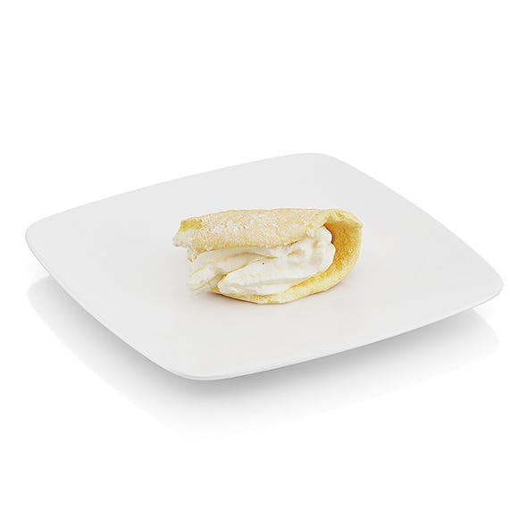 Bitten griddle cake with cream - 3DOcean Item for Sale
