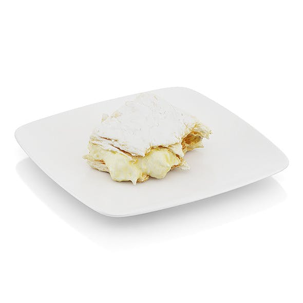 Half-eaten piece of cream pie - 3DOcean Item for Sale