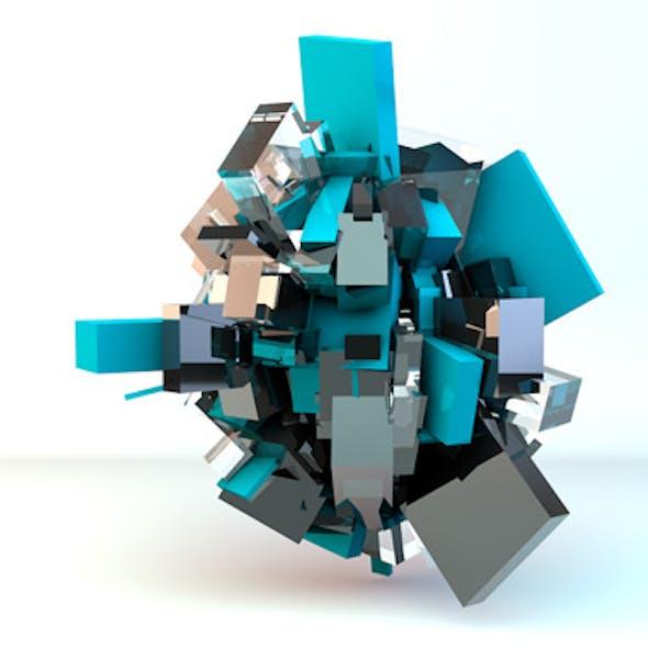 abstract cubes lighting setup