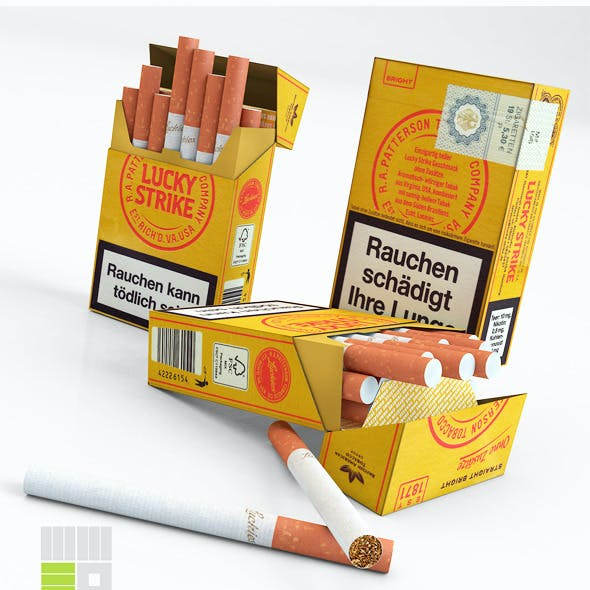 German Box of Cigarettes C4D (FBX, OBJ, 3DS, DAE)