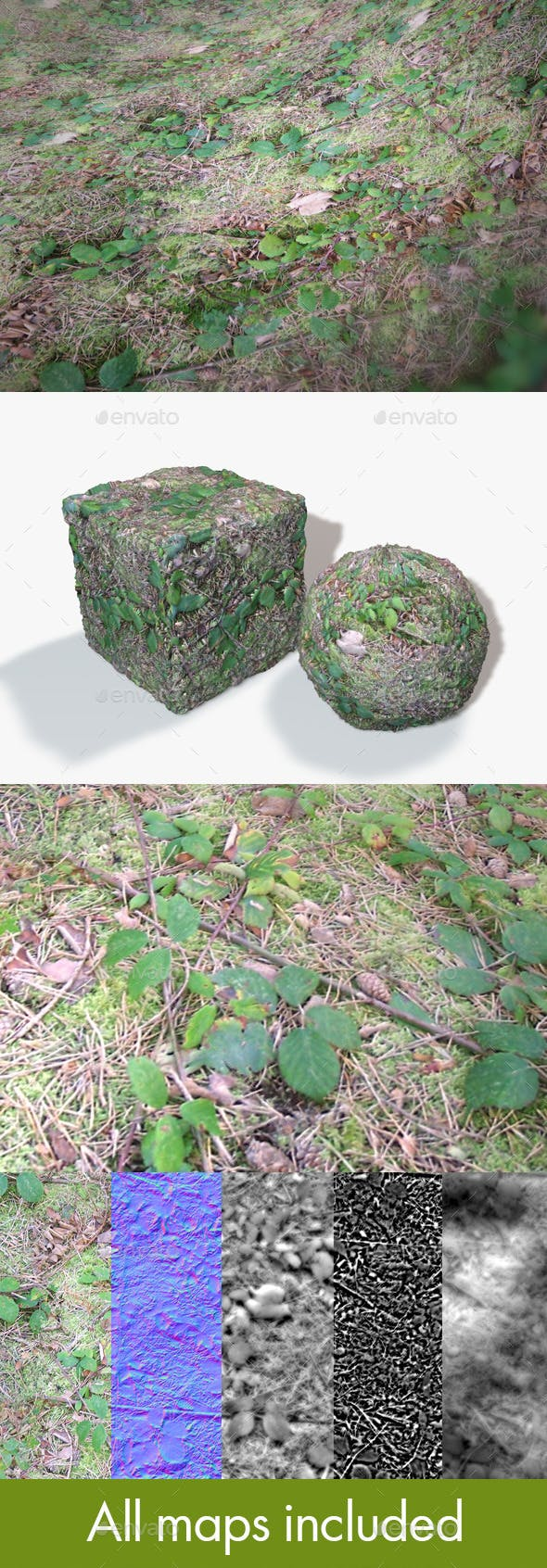Seamless Brambles Ground Texture - 3DOcean Item for Sale